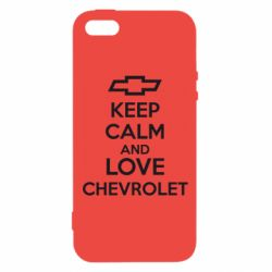 Чохол для iphone 5/5S/SE KEEP CALM AND LOVE CHEVROLET