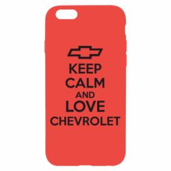 Чохол для iPhone 6/6S KEEP CALM AND LOVE CHEVROLET