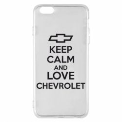 Чохол для iPhone 6 Plus/6S Plus KEEP CALM AND LOVE CHEVROLET