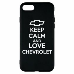 Чохол для iPhone 8 KEEP CALM AND LOVE CHEVROLET