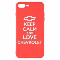 Чохол для iPhone 8 Plus KEEP CALM AND LOVE CHEVROLET
