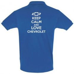 Футболка Поло KEEP CALM AND LOVE CHEVROLET