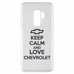 Чохол для Samsung S9+ KEEP CALM AND LOVE CHEVROLET