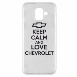 Чохол для Samsung A6 2018 KEEP CALM AND LOVE CHEVROLET