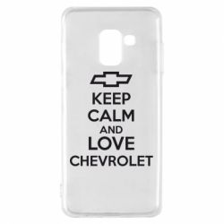 Чохол для Samsung A8 2018 KEEP CALM AND LOVE CHEVROLET