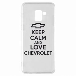Чохол для Samsung A8+ 2018 KEEP CALM AND LOVE CHEVROLET