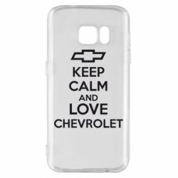 Чохол для Samsung S7 KEEP CALM AND LOVE CHEVROLET