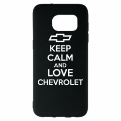 Чохол для Samsung S7 EDGE KEEP CALM AND LOVE CHEVROLET