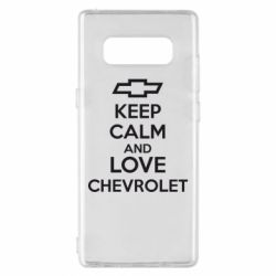 Чохол для Samsung Note 8 KEEP CALM AND LOVE CHEVROLET