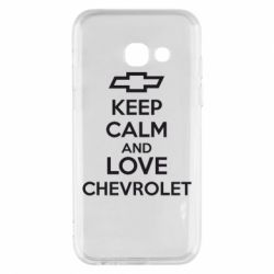 Чохол для Samsung A3 2017 KEEP CALM AND LOVE CHEVROLET