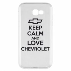 Чохол для Samsung A7 2017 KEEP CALM AND LOVE CHEVROLET