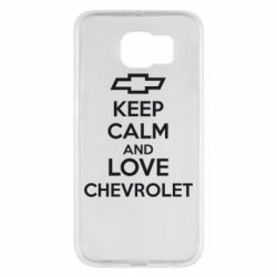 Чохол для Samsung S6 KEEP CALM AND LOVE CHEVROLET