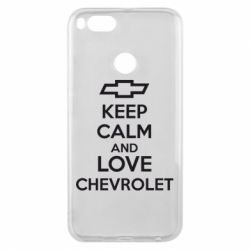 Чохол для Xiaomi Mi A1 KEEP CALM AND LOVE CHEVROLET