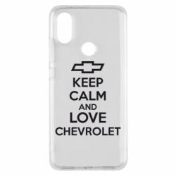 Чохол для Xiaomi Mi A2 KEEP CALM AND LOVE CHEVROLET