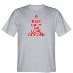 Мужская футболка KEEP CALM AND LOVE CITROEN - FatLine
