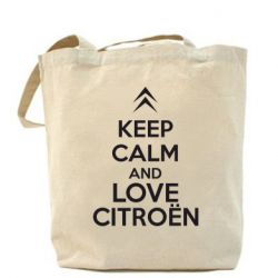 Сумка KEEP CALM AND LOVE CITROEN - FatLine