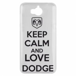 Чехол для Huawei Y5 2017 KEEP CALM AND LOVE DODGE - FatLine
