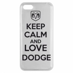 Чехол для Huawei Y5 2018 KEEP CALM AND LOVE DODGE - FatLine