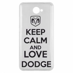 Чехол для Huawei Y7 2017 KEEP CALM AND LOVE DODGE - FatLine