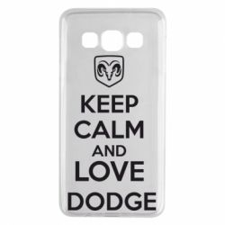Чехол для Samsung A3 2015 KEEP CALM AND LOVE DODGE - FatLine