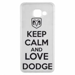 Чехол для Samsung A3 2016 KEEP CALM AND LOVE DODGE - FatLine