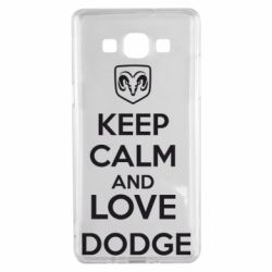 Чехол для Samsung A5 2015 KEEP CALM AND LOVE DODGE - FatLine