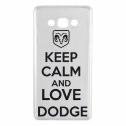 Чехол для Samsung A7 2015 KEEP CALM AND LOVE DODGE - FatLine