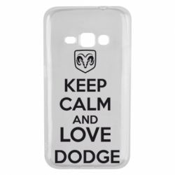 Чехол для Samsung J1 2016 KEEP CALM AND LOVE DODGE - FatLine