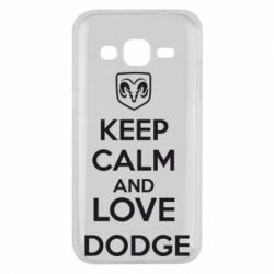 Чехол для Samsung J2 2015 KEEP CALM AND LOVE DODGE - FatLine