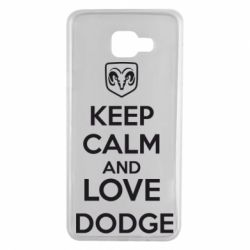 Чехол для Samsung A7 2016 KEEP CALM AND LOVE DODGE - FatLine