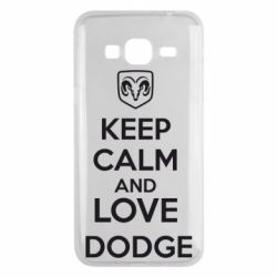 Чехол для Samsung J3 2016 KEEP CALM AND LOVE DODGE - FatLine