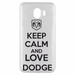 Чехол для Samsung J4 KEEP CALM AND LOVE DODGE - FatLine