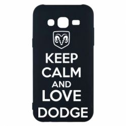 Чехол для Samsung J5 2015 KEEP CALM AND LOVE DODGE - FatLine