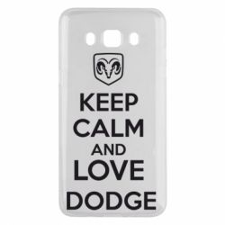Чехол для Samsung J5 2016 KEEP CALM AND LOVE DODGE - FatLine