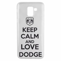 Чехол для Samsung J6 KEEP CALM AND LOVE DODGE - FatLine