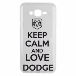 Чехол для Samsung J7 2015 KEEP CALM AND LOVE DODGE - FatLine