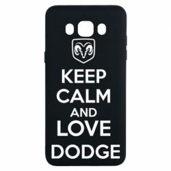 Чехол для Samsung J7 2016 KEEP CALM AND LOVE DODGE - FatLine