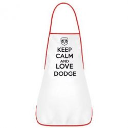Фартук KEEP CALM AND LOVE DODGE - FatLine