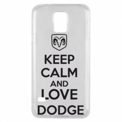Чехол для Samsung S5 KEEP CALM AND LOVE DODGE - FatLine