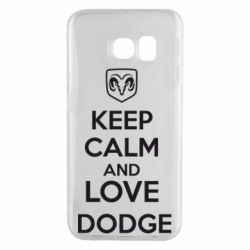 Чехол для Samsung S6 EDGE KEEP CALM AND LOVE DODGE - FatLine