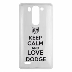 Чехол для LG G3 mini/G3s KEEP CALM AND LOVE DODGE - FatLine