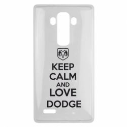 Чехол для LG G4 KEEP CALM AND LOVE DODGE - FatLine