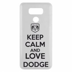 Чехол для LG G6 KEEP CALM AND LOVE DODGE - FatLine