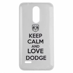 Чехол для LG K7 2017 KEEP CALM AND LOVE DODGE - FatLine