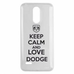 Чехол для LG K8 2017 KEEP CALM AND LOVE DODGE - FatLine