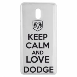 Чехол для Nokia 3 KEEP CALM AND LOVE DODGE - FatLine