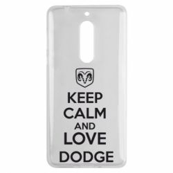 Чехол для Nokia 5 KEEP CALM AND LOVE DODGE - FatLine