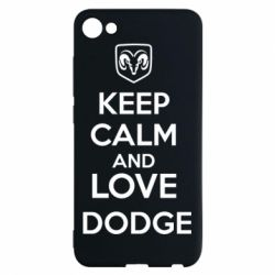 Чехол для Meizu U10 KEEP CALM AND LOVE DODGE - FatLine
