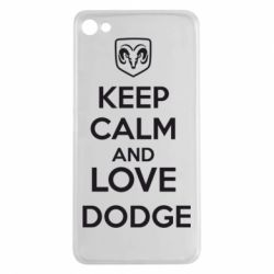 Чехол для Meizu U20 KEEP CALM AND LOVE DODGE - FatLine