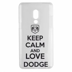 Чехол для Meizu 15 Plus KEEP CALM AND LOVE DODGE - FatLine